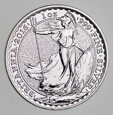 2016 Great Britain 2 Pounds 1 Oz Silver Coin .999 Fine - Rare *072