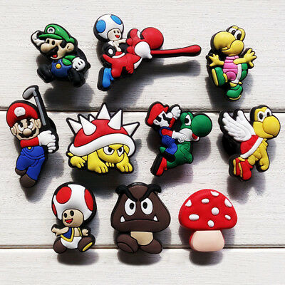 20pcs Lot Super Mario PVC Shoes Charms fit for Croc & Jibbitz Wristbands as Gift