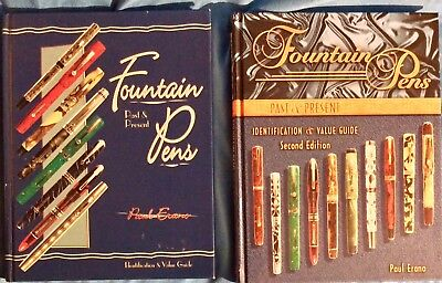 1st AND 2nd Editions Fountain Pens Past & Present by Paul Erano. 2nd EDIT SIGNED