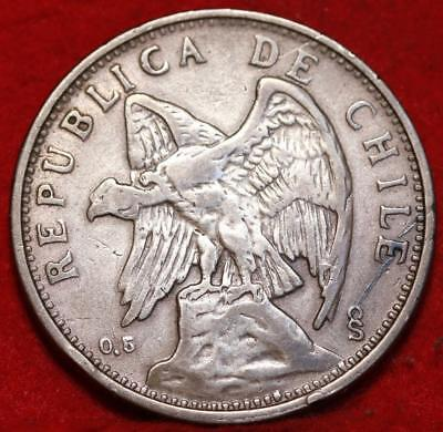 1927 Chile 2 Peso Silver Foreign Coin