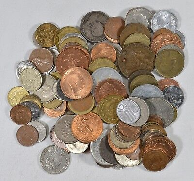 Roughly a POUND of Mixed World Coins - Great Mix *183