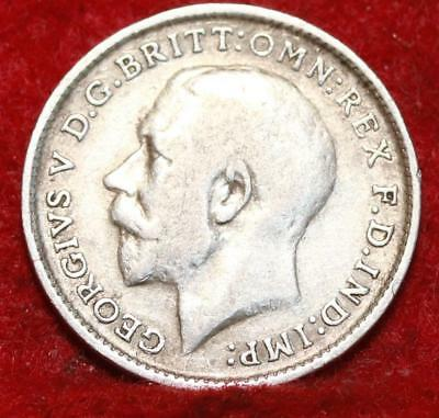 1911 Great Britain 3 Pence Silver Foreign Coin