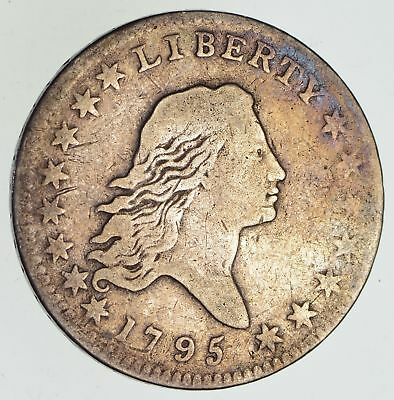 1795 Flowing Hair Silver Half Dollar - Two Leaves - Circulated *4865