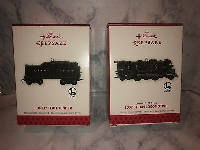 2013 Hallmark Lionel Ornaments Locomotive and Tender MIB