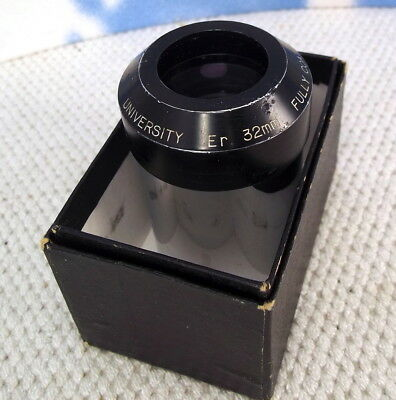 """University Er. 32mm FULLY COATED 2"""" Telescope Eyepiece in Nice Condition f10"""
