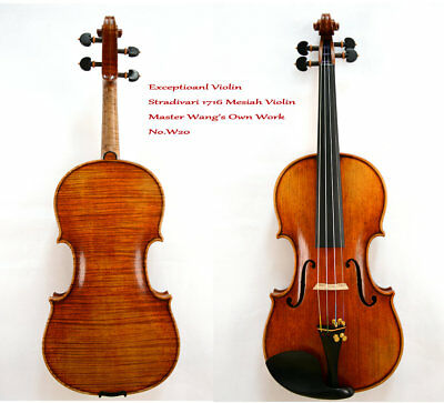 Surprisingly Exceptional Violin Master Wang's own Work  No.W20 200-y Old Spruce