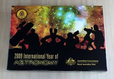 Year 2009 Australia Proof Coin Set with Commemorative $1 Year of Astronomy