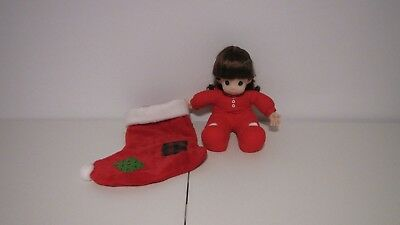 """New Precious Moments 16"""" Doll in Stocking Limited Edition Nicole 1994 Item#1056"""