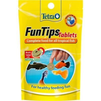 Tetra Funtips Tablets Fish Food, Complete Food For All Tropical Fish For