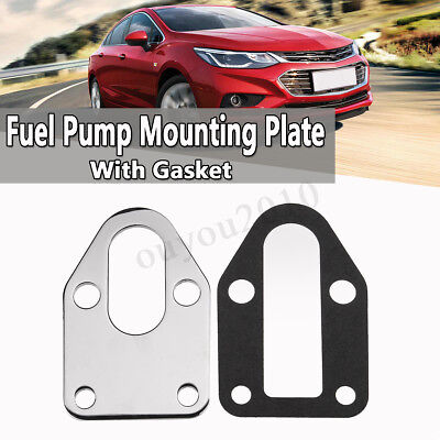 SBC Fuel Pump Mounting Plate W// Gasket For Chevy SB 283 305 327 350 383 400 E7S9