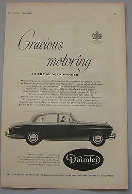 1961 Daimler Majestic Major Original advert No.2
