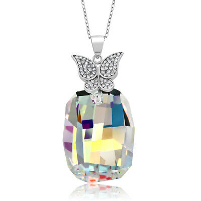 Nirano Collection Aurora 925 Silver Pendant Made with Swarovski® Crystals