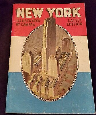 1937 Tourist Guide New York Picture Book Illustrated By Camera