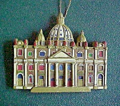 CATHEDRALS OF THE WORLD CHRISTMAS ORNAMENT  St. Peter's Basilica Rome, Italy