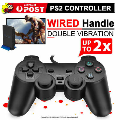 For PS2 PlayStation 2 Wire Cable Controller Dual Shock Gamepad Console Joypad MU