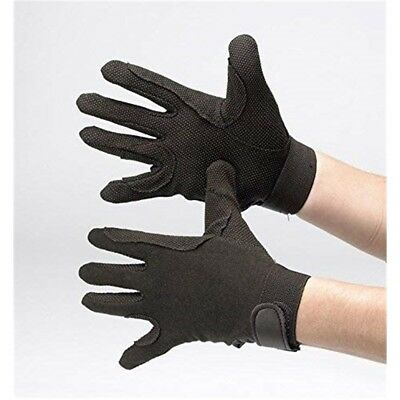 Hy5 Cotton Pimple Palm Gloves - Black - Small
