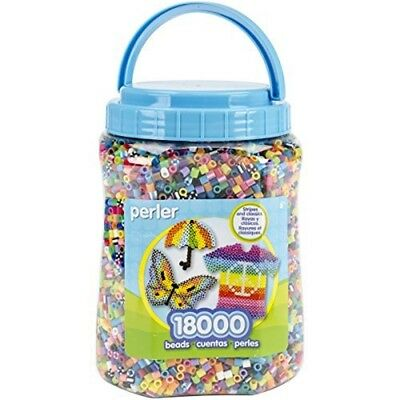 Perler Plastic Fun Fusion Bead Jar 18,000kg Multicolor - Fused Beads Pkg