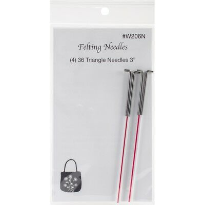 Wistyria Editions Felting Needles 4/pkg-size 36 Triangle