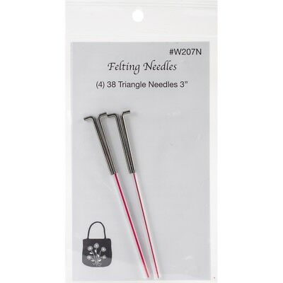 Wistyria Editions Felting Needles 4/pkg-size 38 Triangle
