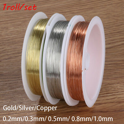 Diy  Craft gold plated Beads Necklace Jewelry Making Cord String copper wire