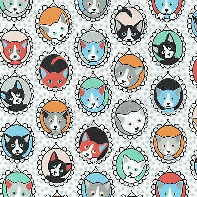 Textiles français The Cat Portrait Gallery fabric - 100% Cotton 160 cm wide