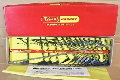 TRIANG HORNBY R416 15' CATENARY SET for SUPER 4 TRACK MINT BOXED