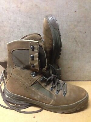 Size 10 W suede brown combat high liability desert meindl boots!v/g condition