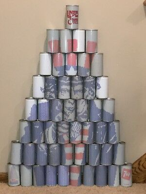 """7Up Bicentennial """"United We Stand"""" Pyramid Soda Cans 1976"""