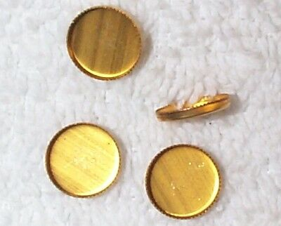 Vintage 12Mm Brass Sawtooth Edge Settings Mountings Findings 22 Pcs. 1/2 Price
