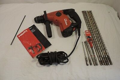 "Hilti Te7 Corded Sds-Plus 3/4"" Rotary Hammer Drill W/ Case & Bits ~"