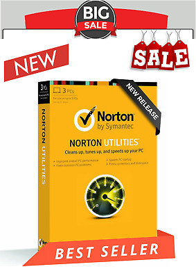 Norton Utilities V(16)2019 Life time license for Windows XP,Vista,7,8&10