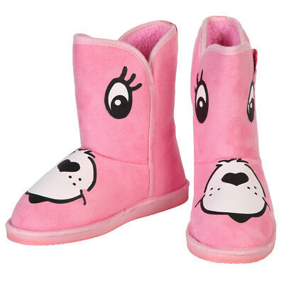 bf26cc513f IRON FIST CARE Bears Stare Cheer Bear Face Women s Pink Fugg Boots ...