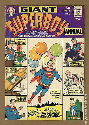 Superboy (1st Series DC) Annual #1 1964 GD 2.0