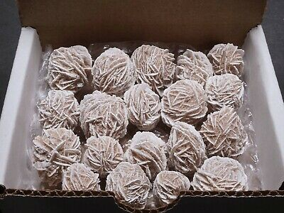 Desert Rose Collection 1/4 Lb Natural Selenite Crystal Clusters Brown White