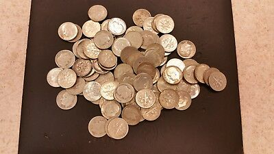 Lot of (100) Roosevelt Silver Dimes | US Coins - Lot of (100) | 90%