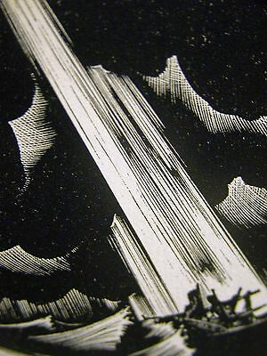 Lynd Ward 1930 SLAVE SHIP LEAVING AFRICA  Art Deco Print Matted