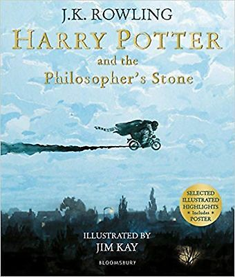 Harry Potter and the Philosopher's Stone: Illustrated Edition (Harry... New Book