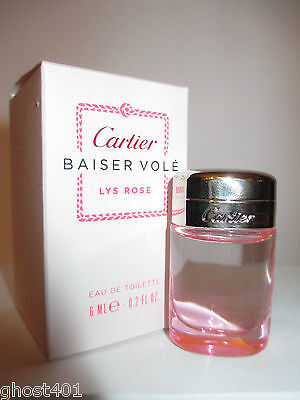 👻 CARTIER - Baiser Vole Lys Rose mit Box  6ml EdT