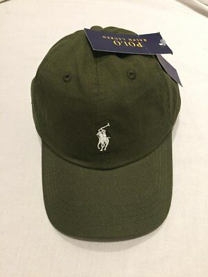 Adults  Size Ralph Lauren Polo baseball hats (khaki green &white pony )70%off
