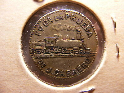 Habana Late 1800's Token, Side Wheeler and Old Locomotive, Quite Scarce