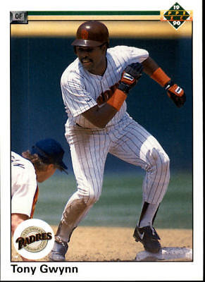 1989 UPPER DECK Baseball Tony Gwynn Card #384 San Diego