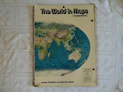 "Rand McNally Randmap Book The World in Maps incl. Physical & Political 30"" x 23"""