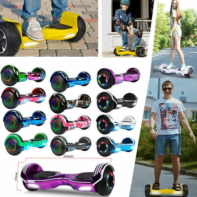 """6.5"""" Hoverboard Electric Scooter with Bluetooth LED UL2272 Balancing Bag Gift"""