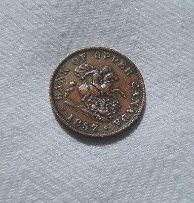 1857 Bank Of Upper Canada Half Cent Copper Make Us An Offer!