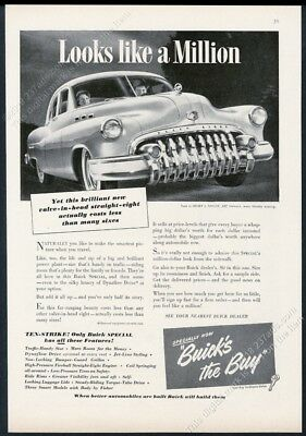 1950 Buick Special sedan car great grille photo vintage print ad