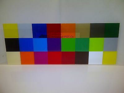 3Mm Perspex 24 Different Coloured & Tinted Acrylic Sheets Grey Brown Ivory A5