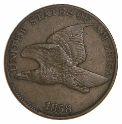1858 Flying Eagle Cent - Very Tough - Issued for only 3 Years *892