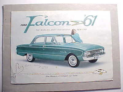 1961 Ford Falcon Color Brochure With Peanuts Cartoons By Charles Schulz Vg+