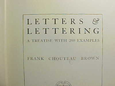 1921 History Of Letters & Lettering By Brown Roman Gothic Italian Script Vg+