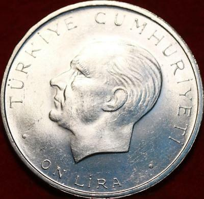 Uncirculated 1960 Turkey  Lira Silver Foreign Coin